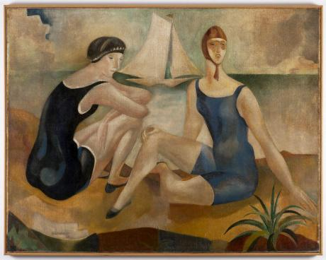 "As banhistas (Pintura decorativa - Café ""A Brasileira"" do Chiado), 1925"