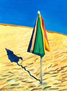 David Hockney, Beach Umbrella, 1971
