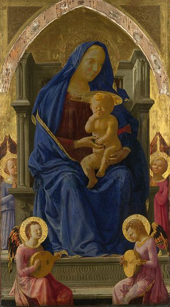 Madonna and child with angels, Masaccio, 1426