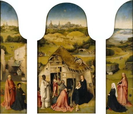 Hieronymous Bosch, Triptych of the Adoration of the Magi 1510 Museo do Prado